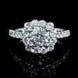 .83ct Diamond 18k White Gold Halo Engagement Ring Setting