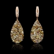 8.01ct Diamond 18k Rose Gold Dangle Earrings