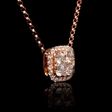 .42ct Diamond 18k Rose Gold Pendant Necklace
