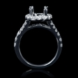 .91ct Diamond 18k White Gold Split Shank Halo Engagement Ring Setting