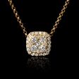 .43ct Diamond 18k Yellow Gold Pendant Necklace