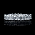 3.35ct Diamond Platinum Emerald Shaped Eternity Wedding Band Ring