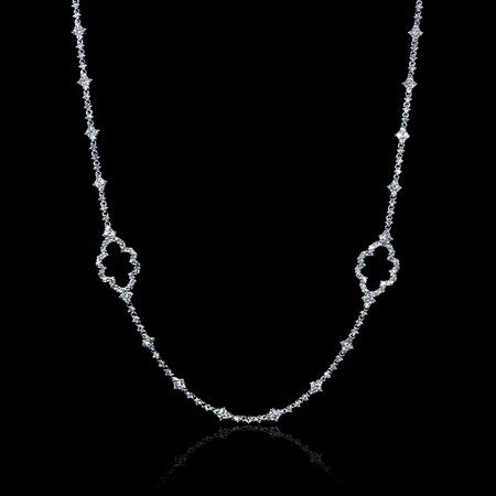 11.38ct Diamond 18k White Gold Necklace
