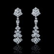 4.42ct Diamond 18k White Gold Dangle Earrings