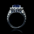 2.30ct Diamond 18k White Gold Halo Split Shank Engagement Ring Setting
