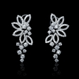 2.48ct Diamond 18k White Gold Dangle Earrings