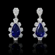 2.51ct Diamond and Tanzanite 18k White Gold Dangle Earrings