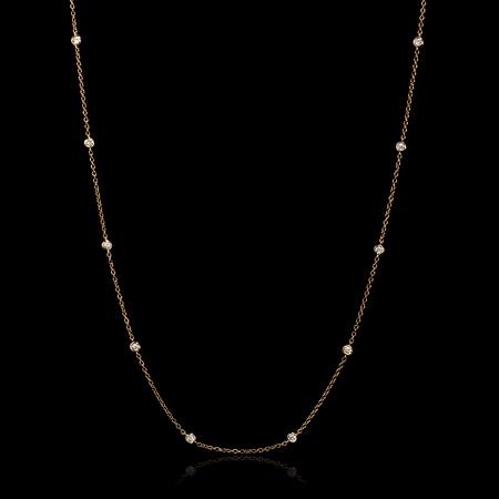 Diamond Chain 18k Rose Gold Necklace