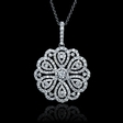 1.69ct Diamond 18k White Gold Flower Pendant