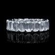 3.96ct Christopher Designs L'Amour Crisscut Collection Diamond Platinum Eternity Wedding Band Ring