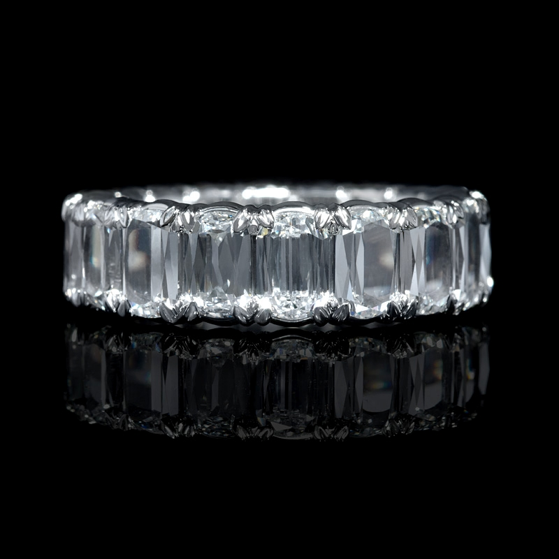 553ct Christopher Designs LAmour Crisscut Collection Diamond Platinum Eternity Wedding Band Ring