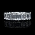 5.53ct Christopher Designs L'Amour Crisscut Collection Diamond Platinum Eternity Wedding Band Ring