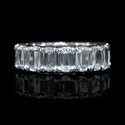 L'Amour  Crisscut Collection Diamond Platinum Eternity Wedding Band Ring