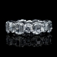 7.28ct Christopher Designs L'Amour Crisscut Collection Diamond Platinum Eternity Wedding Band Ring