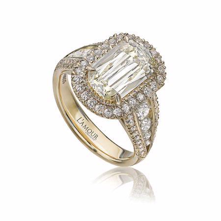 L'Amour Crisscut Collection Annabella Diamond 18k Yellow Gold Engagement Ring Setting