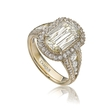 .90ct Christopher Designs L'Amour Crisscut Collection Annabella Diamond 18k Yellow Gold Ring Setting