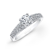 Natalie K Diamond 18k White Gold Prong Bezel Engagement Ring Setting