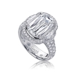 1.94ct Christopher Designs L'Amour Crisscut Collection Mia Diamond Platinum Setting