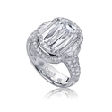 L'Amour Crisscut Collection Mia Diamond Platinum Engagement Ring Setting