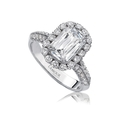 L'Amour Crisscut Collection Olivia Diamond 18k White Gold Engagement Ring Setting