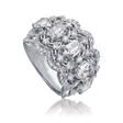 Christopher Designs,L'Amour Crisscut Collection Annabella Diamond 18k White Gold Ring