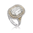 4.02ct L'Amour Crisscut Collection Mia Diamond 18k Two tone Engagement Ring Setting