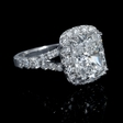 1.01ct Diamond 18k White Gold Split Shank Halo Engagement Ring Setting