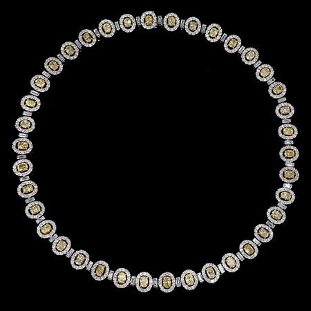 Diamond 18k Two Tone Gold Necklace