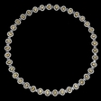 25.12ct Diamond 18k Two Tone Gold Necklace