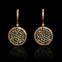 Diamond 14k Rose Gold Dangle Earrings