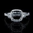 .73ct Diamond Antique Style 18k White Gold Engagement Ring Setting