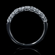.81ct Diamond 18k White Gold Wedding Band Ring