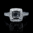 .54ct Diamond Antique Style 18k White Gold Engagement Ring Setting