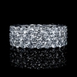 5.94ct Diamond 18k White Gold Eternity Wedding Band Ring
