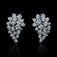 2.31ct Diamond 18k White Gold Cluster Earrings