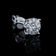.83ct Diamond 18k White Gold Cluster Earrings