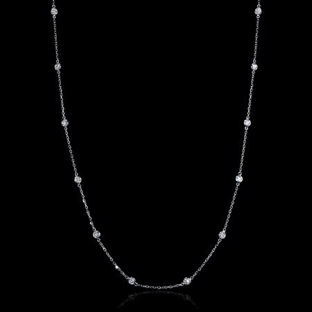Diamonds By The Yard 14k White Gold Necklace