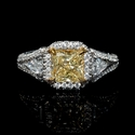 GIA Certified Diamond Platinum and 18k Rose Gold Halo Style Engagement Ring