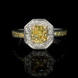 1.41ct Diamond Platinum amd 18k Yellow Gold, Halo Style, Engagement Ring