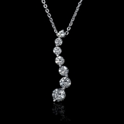 Diamond 18k White Gold Journey Pendant