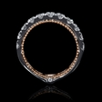 1.26ct Diamond Antique Style 18k White Gold Wedding Band Ring