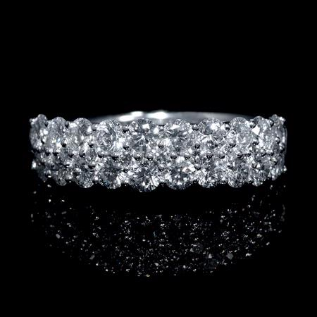 1.60ct Diamond 18k White Gold Wedding Band Ring