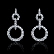 1.46ct Diamond 18k White Gold Dangle Earrings