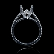 .54ct Diamond 18k White Gold Engagement Ring Setting