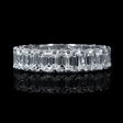 6.05ct Diamond 18k White Gold Eternity Wedding Band Ring