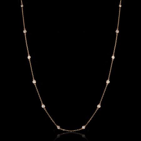 1.50ct Diamonds by the Yard 14k Rose Gold Necklace