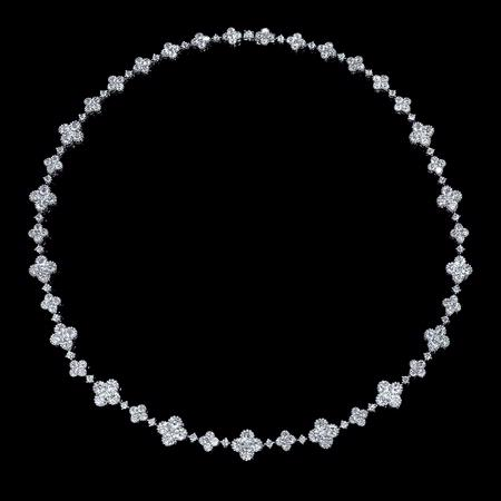 Diamond 18k White Gold Antique Style Necklace