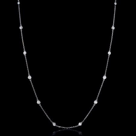 1.00ct Diamond Chain 14k White Gold Necklace
