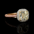 2.72ct GIA Certified Fancy Light Yellow Diamond Platinum and 18k Rose Gold Engagement Ring