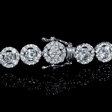 6.29ct Diamond 14k White Gold Tennis Bracelet